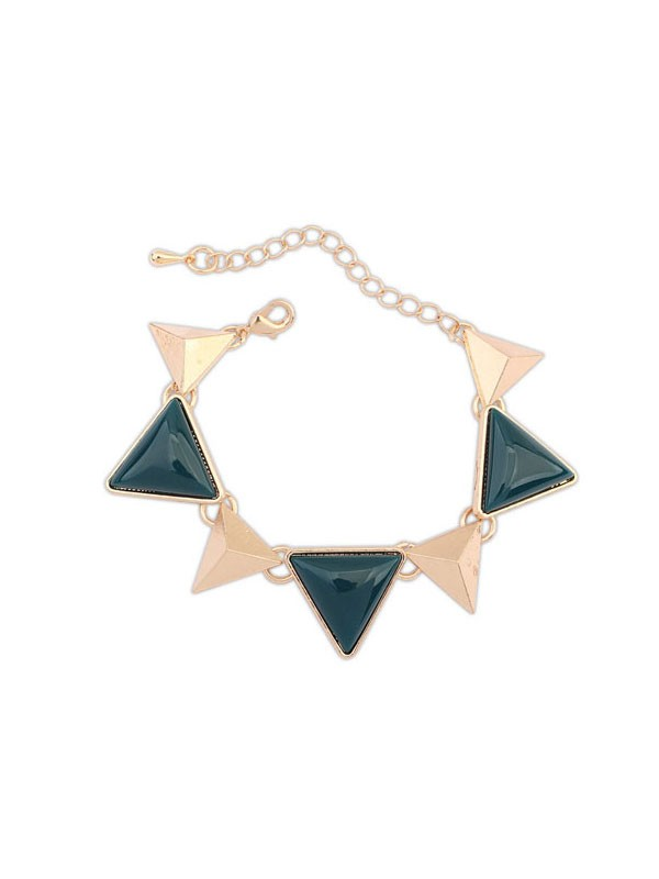 Oeste Retro Punk Geometry Triangle Venda imperdível Bracelets