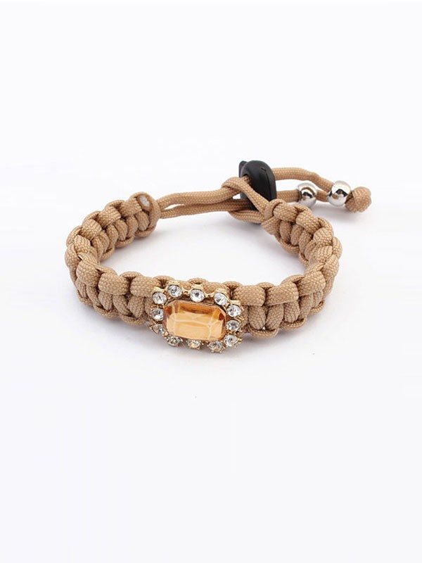 Oeste All-match Woven Concise Venda imperdível Bracelets